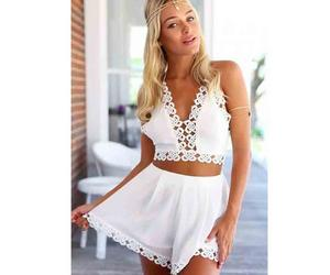 boho, rompers, and white image