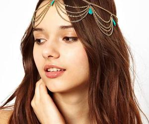 boho, body jewelry, and head chain image