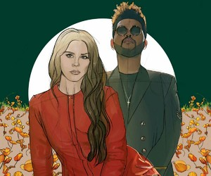 lana del rey, lust for life, and the weeknd image
