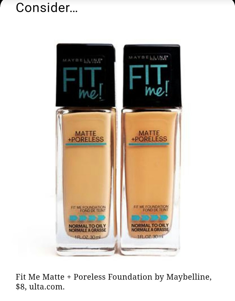 Maybelline Fit Me Foundation Dupe For Armani Foundation