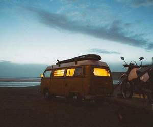 adventure, sunset, and travelling image