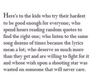 quote, kids, and sad image