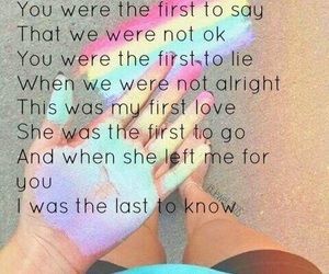 colourful, grunge, and Lyrics image