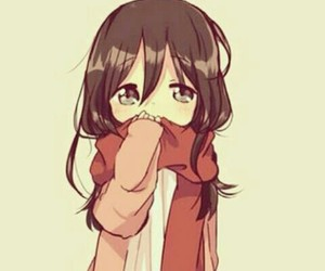 anime, mikasa, and kawaii image