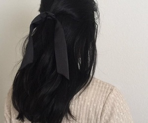 hair, black, and girl image