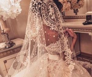 beautiful, dress, and bride image