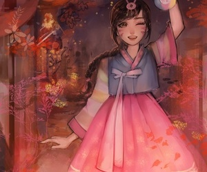 d.va, overwatch, and game image
