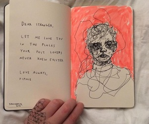 art, journal, and sketch image