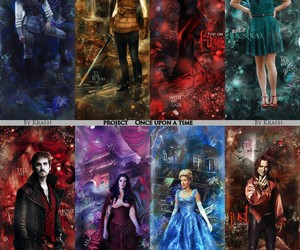 belle, hook, and snow white image