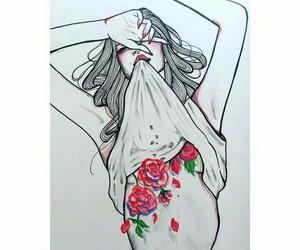 dibujo, flores, and ilustracion image