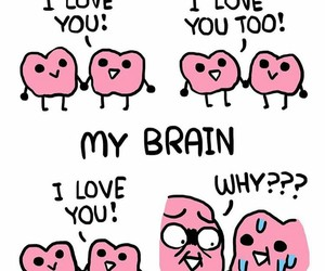 love, funny, and brain image