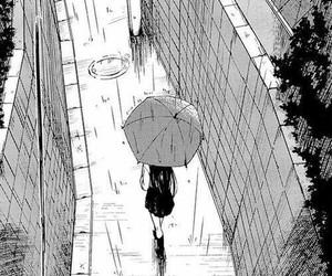 manga, rain, and anime image