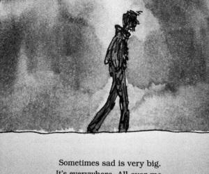 sad, sadness, and alone image