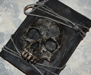 etsy, human skull, and journal cover image