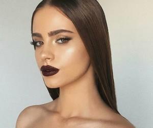 brown eyes, girl girls makeup, and luxury+noir+shoe image