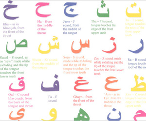 alphabet, arabic, and color image