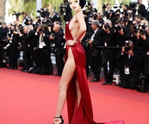 bella hadid, dress, and cannes image