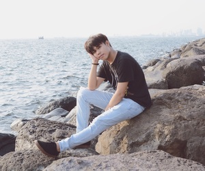 asian, hipster, and seaside image