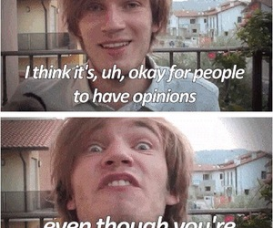 pewdiepie, funny, and opinion image