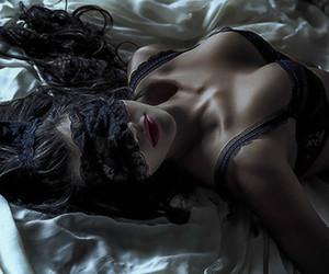 girl, night, and sexi image