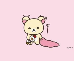 pink, rilakkuma, and korilakkuma image
