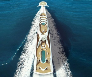 boats, luxury, and modern image