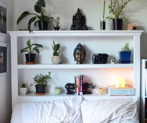 plants, decor, and bedroom image