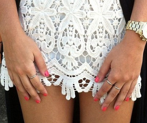fashion, nails, and lace image