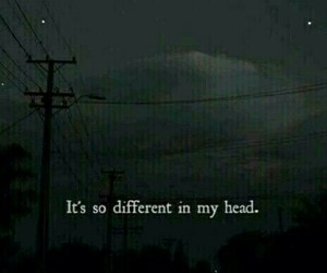 different, head, and lonley image