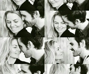 once upon a time, captain swan, and my loves image