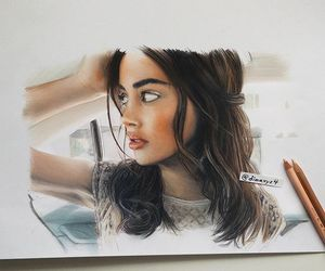 art, brunette, and wolfiecindy image