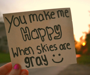 happy, sky, and smile image