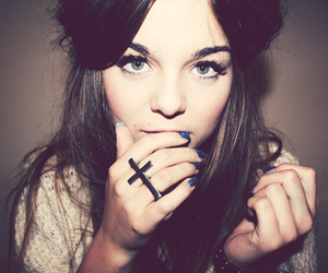 girl, hair, and ring image