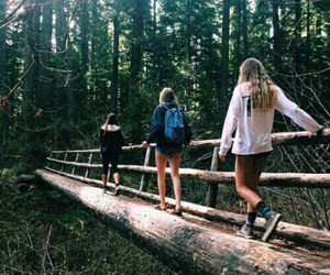 friends, nature, and adventure image