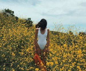 kendall jenner, flowers, and model image