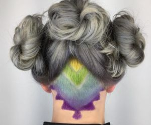pastel, undercut, and rainbowhair image