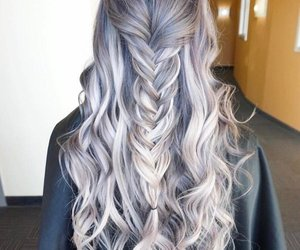 braid, hair, and color image