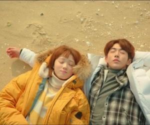 beach and Korean Drama image