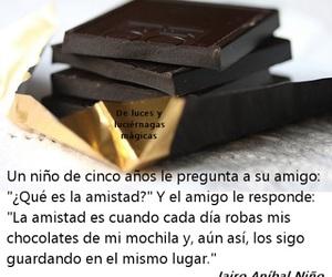 amigos, chocolate, and frases en español image