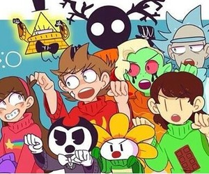 eddsworld, gravity falls, and wander over yonder image