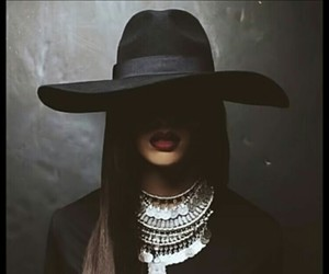 black, hat, and rihanna image