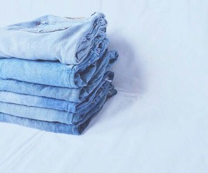 blue, jeans, and pastel image