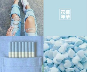 blue, tumblr, and pastel blue image