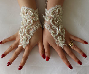 etsy, bridal gloves, and fingerles image