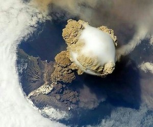 volcano, eruption, and nature image