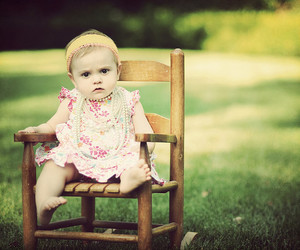 baby, girl, and chair image