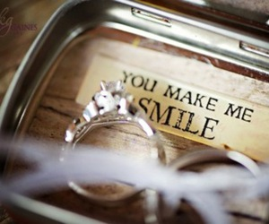 ring, smile, and rings image