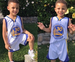 Basketball, little boy, and warriors image