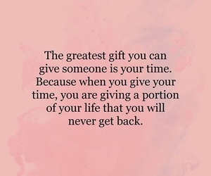 quotes, gift, and time image