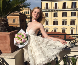 Elle Fanning, beauty, and dress image